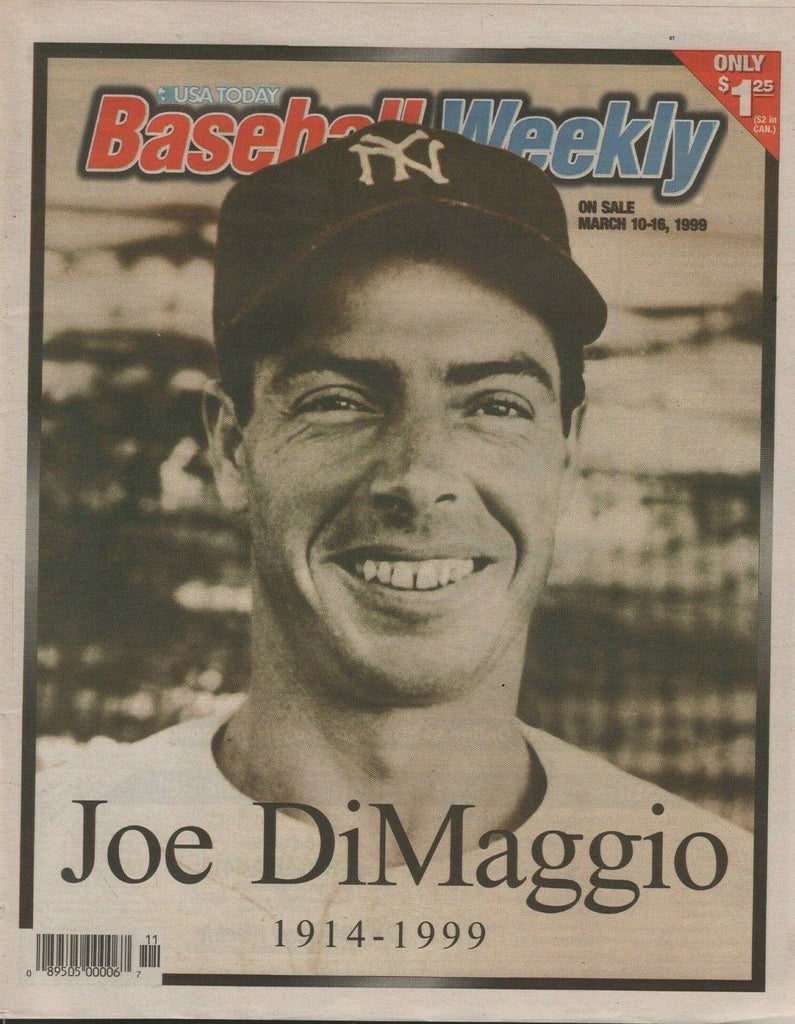 Joe DiMaggio Tribute News Papers RIP 1914-99 lot of 7 073119DBT6