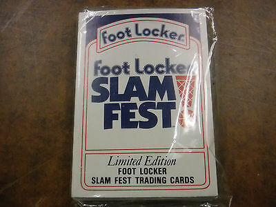 1991 Foot Locker Basketball Slam Fest! Limited Edition Trading Cards Sealed jh30