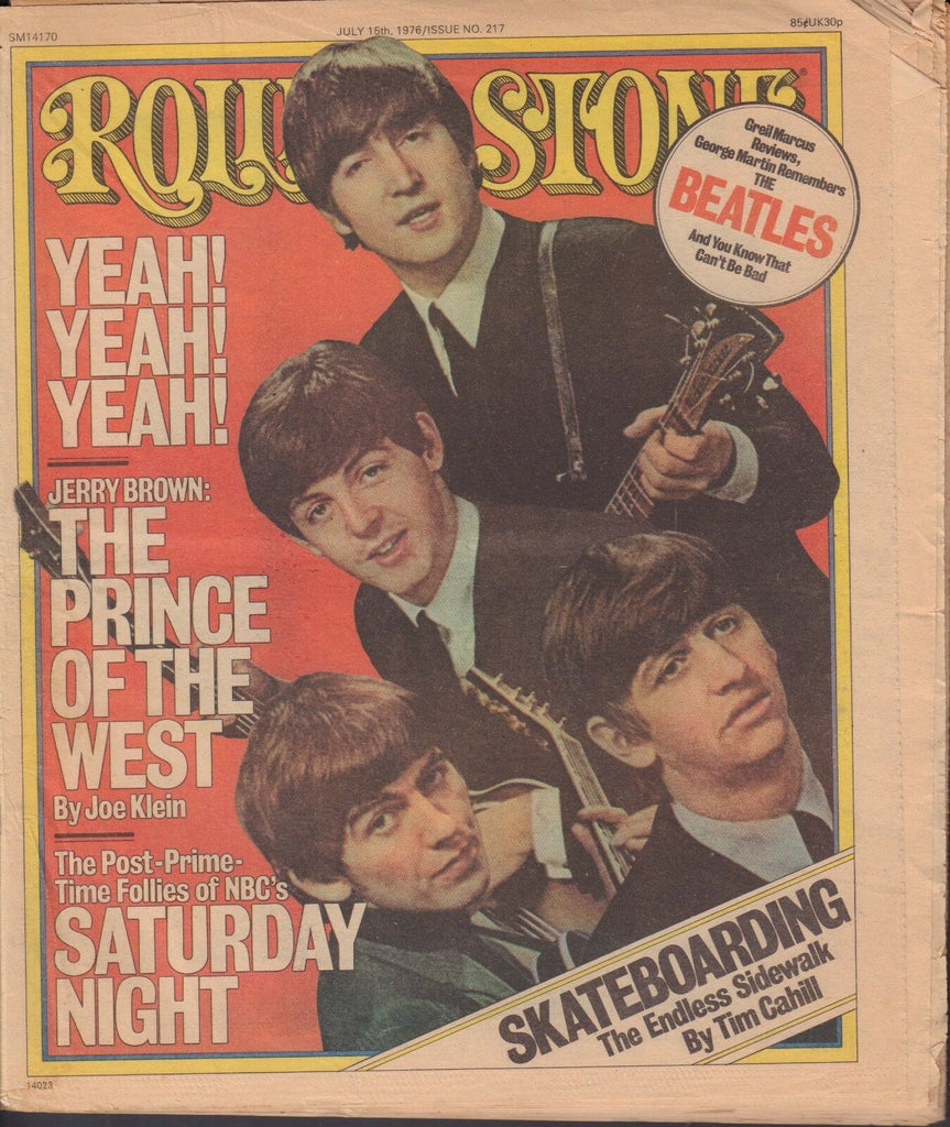 Rolling Stone Magazine The Beatles John Lennon July 15, 1976 NO ML 013018nonr2