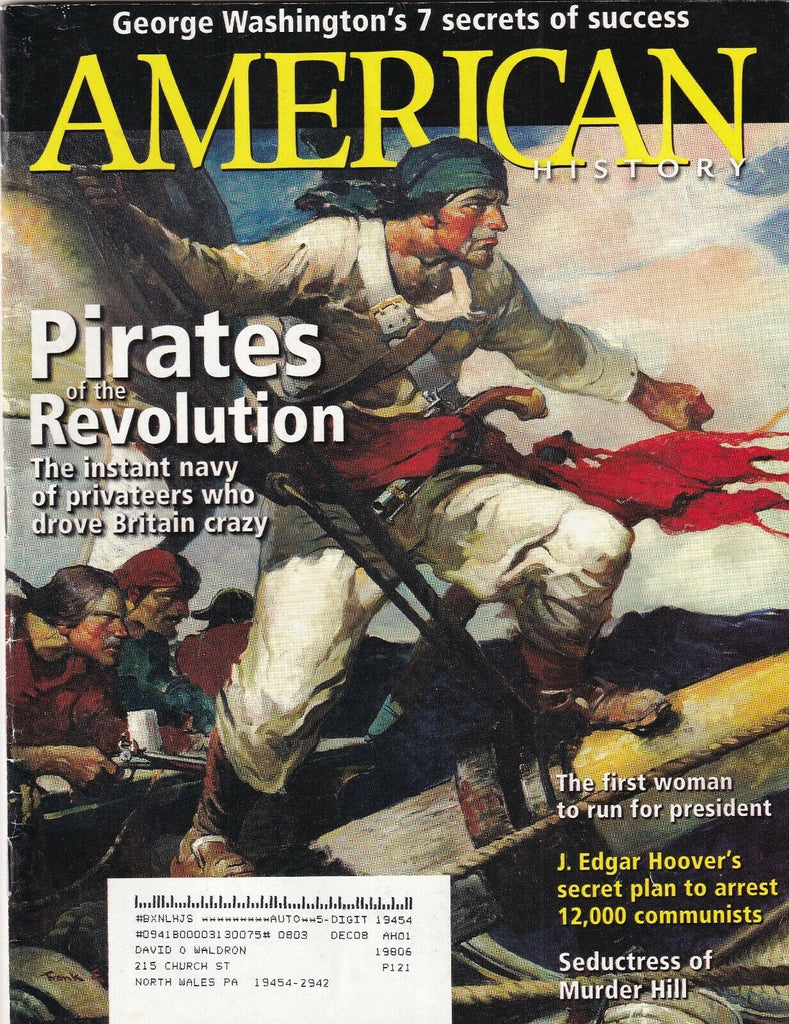 American History Mag Pirates Of The Revolution June 2008 102219nonr