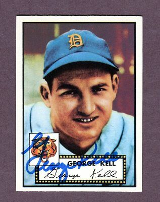 Autographed Signed 1952 Topps Reprint Series #246 George Kell Tigers w/coa jh33