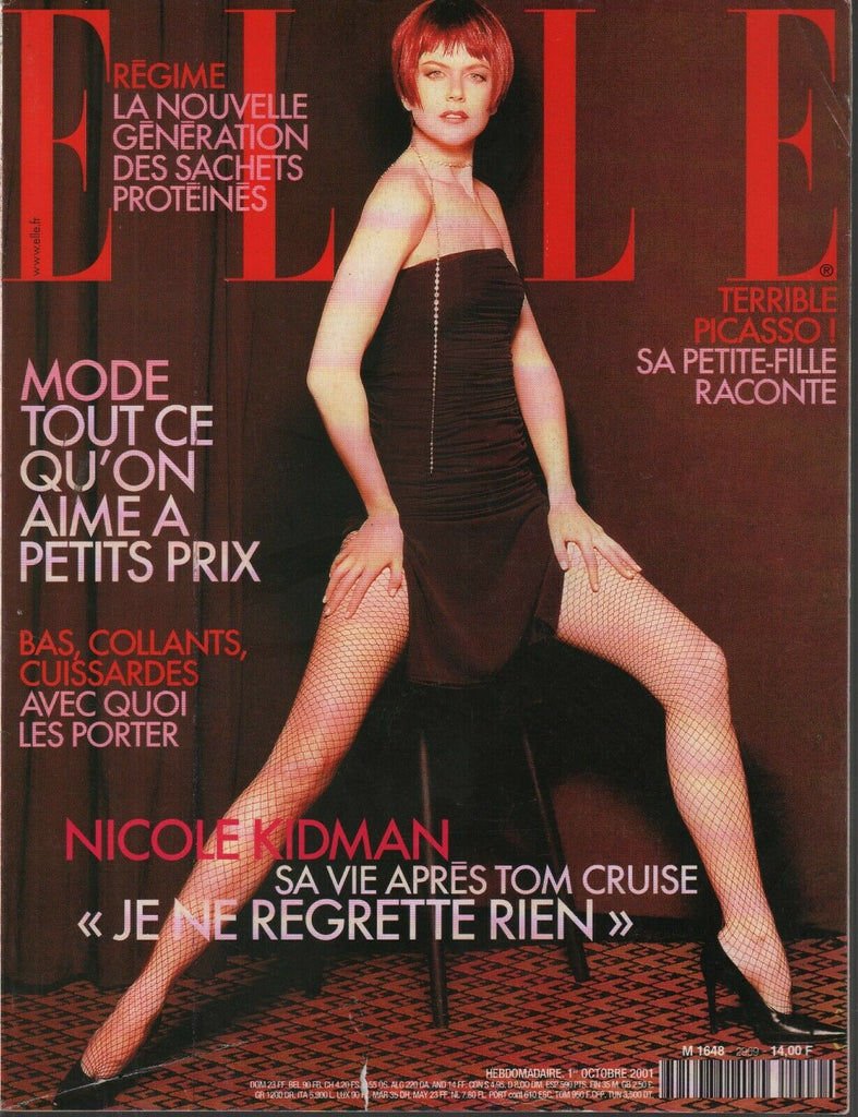 Elle French Fashion Magazine 1 October 2001 Nicole Kidman Tom Cruise 091819AME