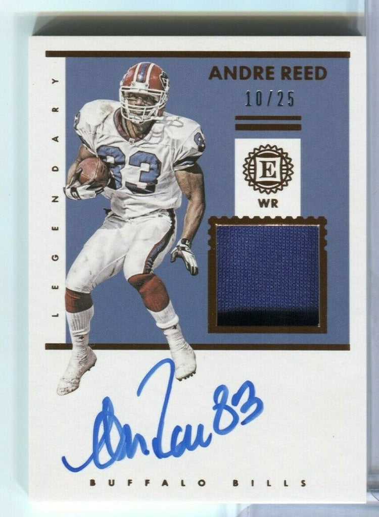 Andre Reed Bills Legendary Signature Jersey Card 10/25 LSS-AR 2019 100219DBCD2