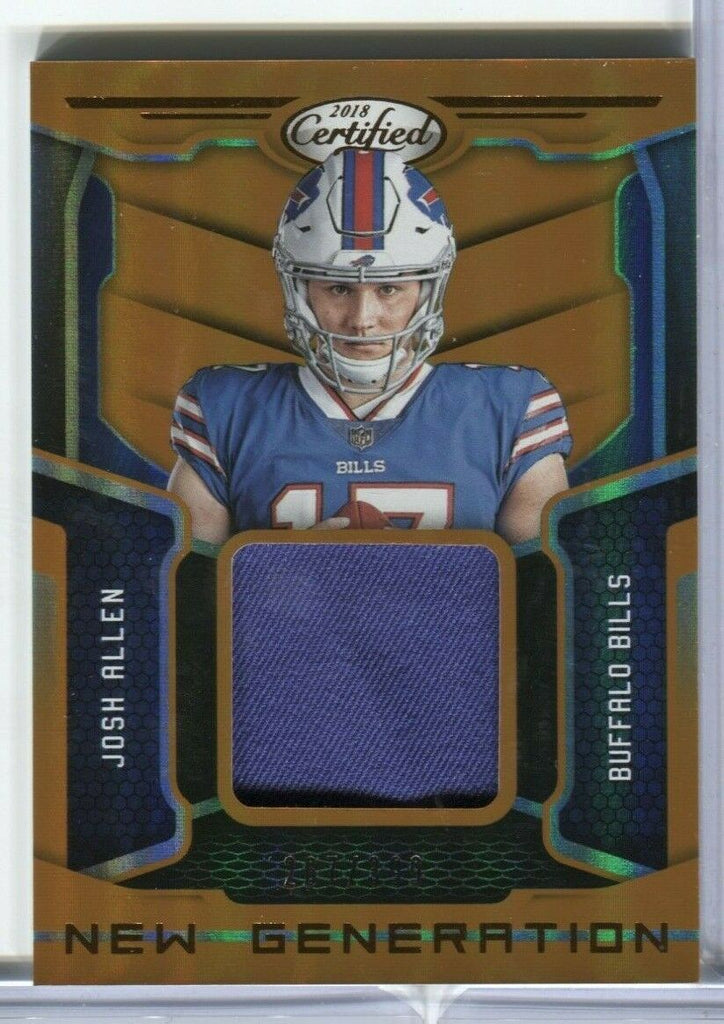 Josh Allen Buffalo Bills 2018 Certified New Generation 267/399 #4 011320DBCD
