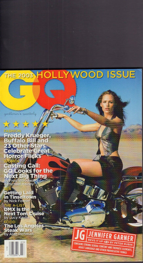 GQ March 2003 Jennifer Garner, Freddy Krueger 020917DBE2