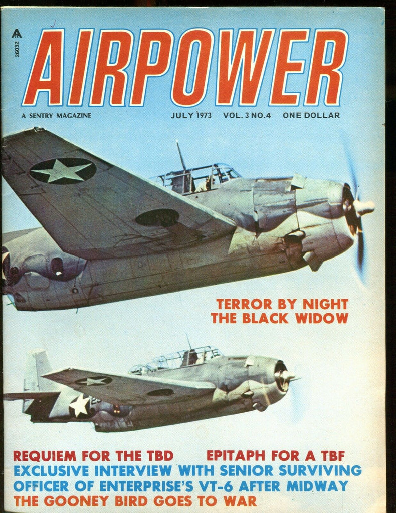 Airpower Magazine July 1973 The Black Widow EX No ML 010617jhe