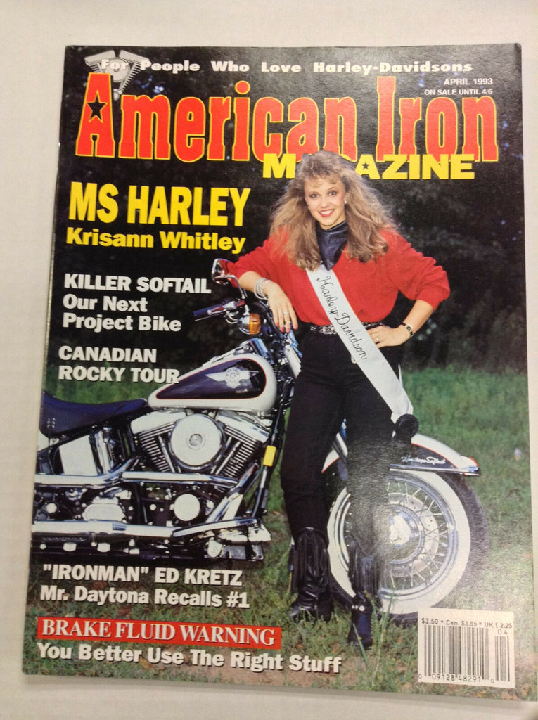 American Iron Magazine Krisann Whitley Killer Softail April 1993 031017NONRH