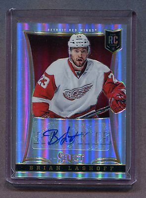 2013-14 Panini Dual RC Class #219 Brian Lashoff Red Wings Auto Prizm jh4