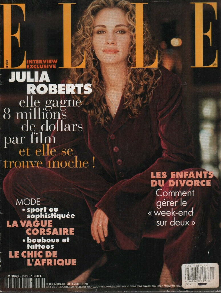 Elle Vintage French Fashion Magazine 28 Fevrier 1994 Julia Roberts 092719AME