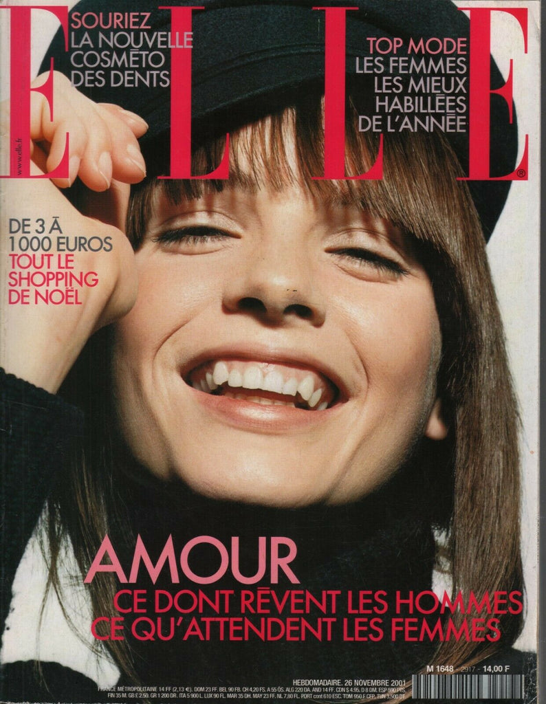 Elle French Fashion Mag 26 Novembre 2001 Pascale Guichard Guy Aroch 091919AME
