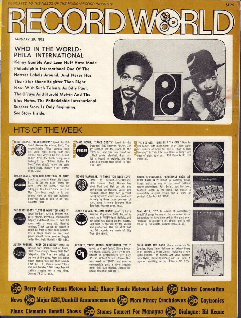 Record World January 20 1973 Phila. International Kenny Gamble 051617nonDBE