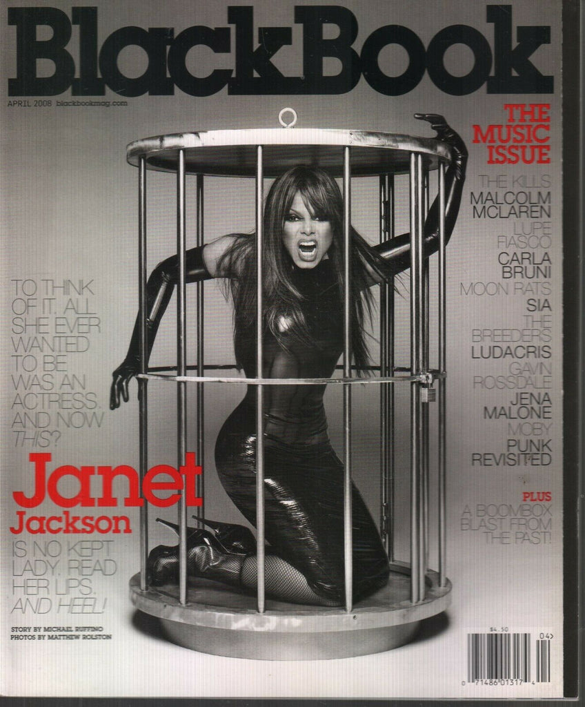 Black Book Magazine April 2008 Janet Jackson Gavin Rossdale 120519AME