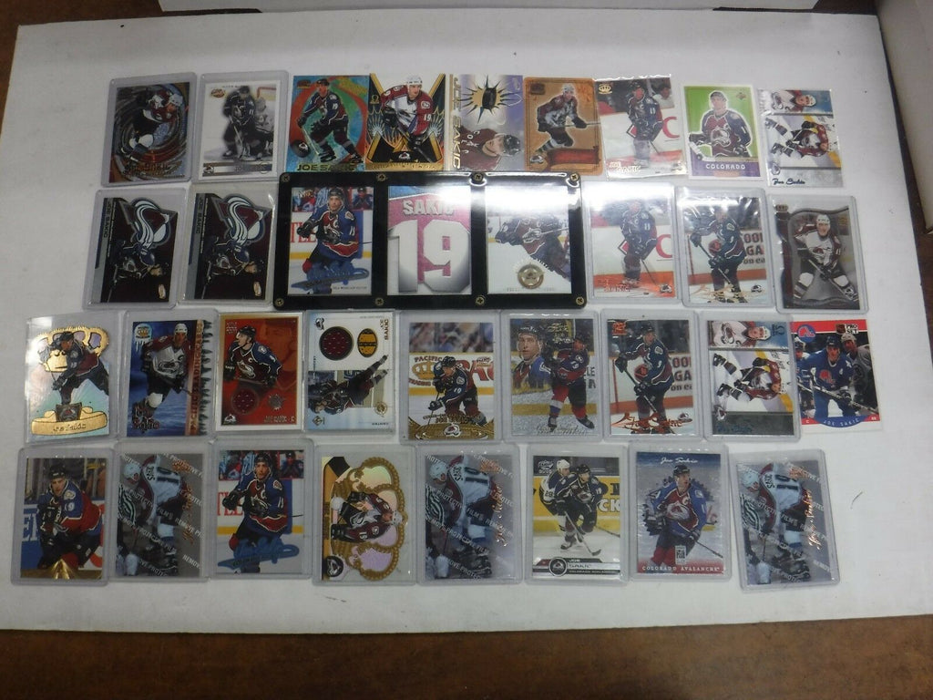 Lot Of 29 Joe Sakic Hockey Cards w/(2) Jersey Cards/Inserts Avalanche jhock