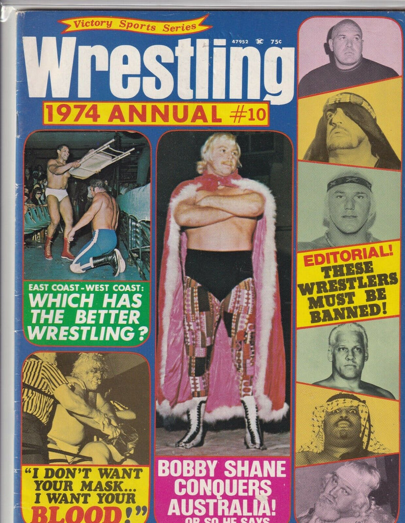 Victory Sports Wrestling 1974 Annual No.10 Bobby Shane 062419nonr