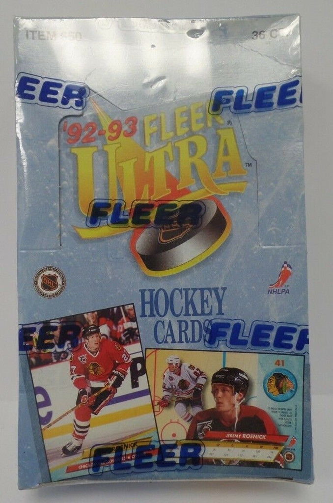 1992 1993 Fleer Ultra NHL Hockey Cards 36 ct Item 650 Sealed Box 121318DBT2