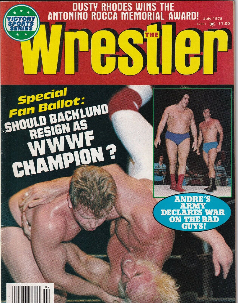 The Wrestler Magazine Bob Backlund Andre The Giant July 1978 050619nonr