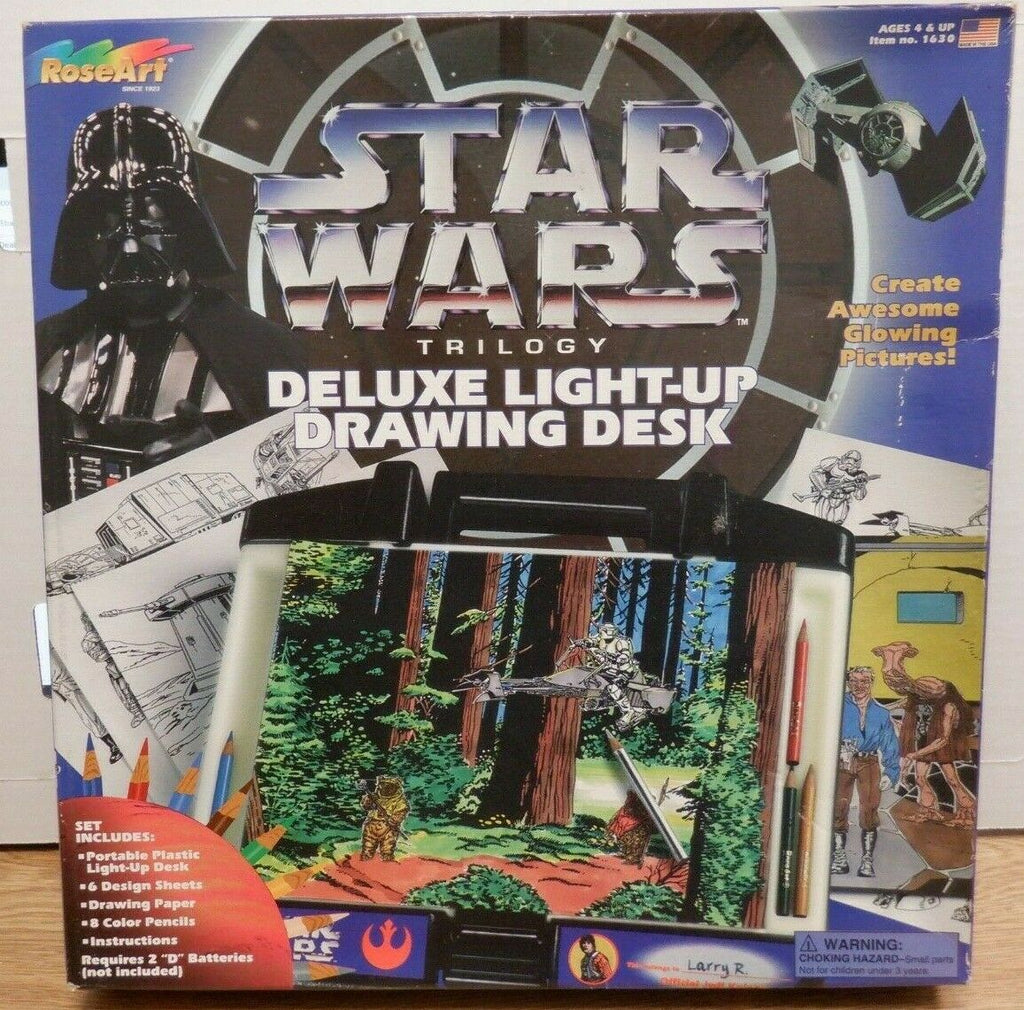 Star Wars Trilogy Deluxe Light-Up Drawing Desk RoseArt SEALED