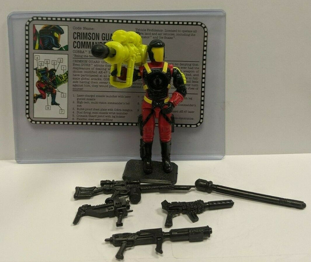 Crimson Guard Commander Elite OfficerGI Joe 3.75 Figure Complete 101519DBT4