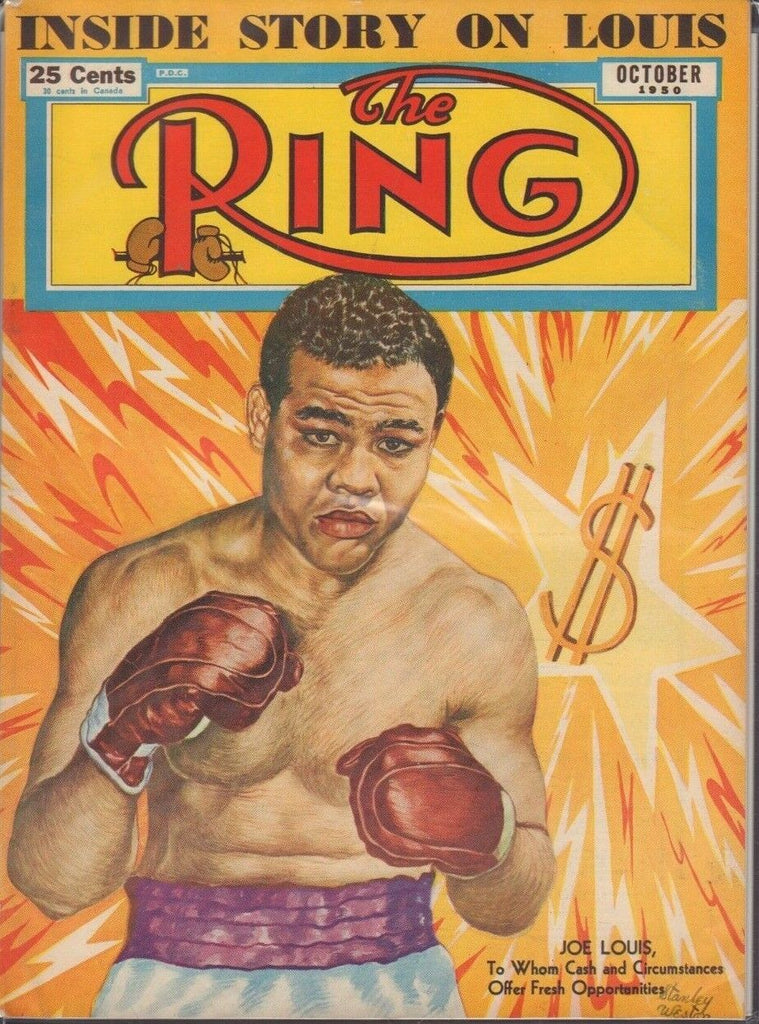 The Ring October 1950 Joe Louis Inside Story 020519DBE