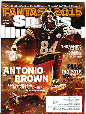 Sports Illustrated Magazine August 17 2015 Antonio Brown EX 051016jhe
