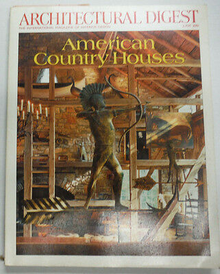 Architectural Digest Magazine American Country Houses June 2001 NO ML 070415R