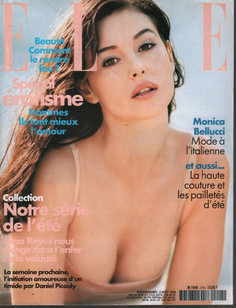 Elle French Fashion Magazine 3 Aout 1998 Monica Bellucci 091819AME2