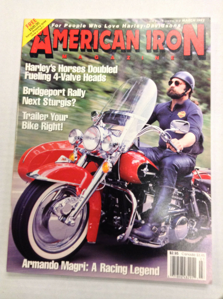 American Iron Magazine Fueling 4-Valve Heads March 1992 031017NONRH