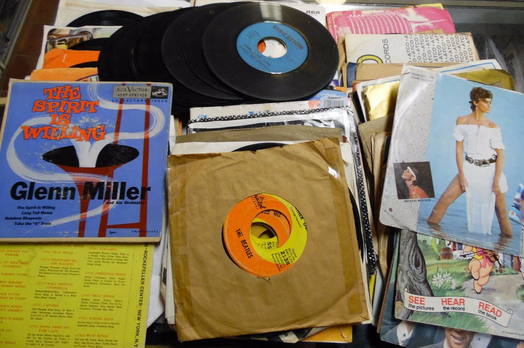 45rpm Lot of 109 Various Rock & Classic Records Artist List in Desc 0611ELDB