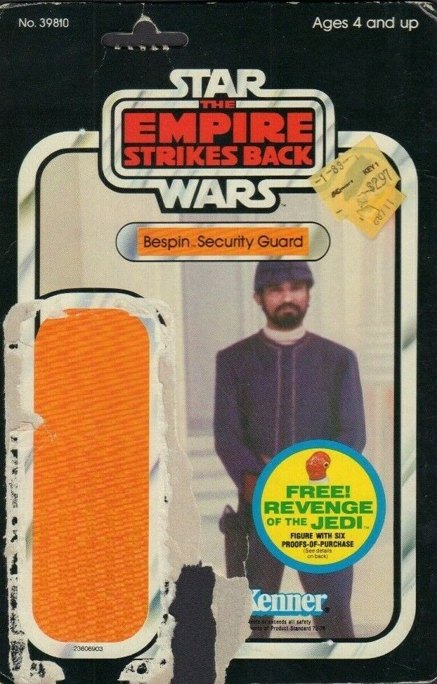 Bespin Security Guard REVENGE OF THE JEDI TESB Card Back Only 1982 031419DBT A