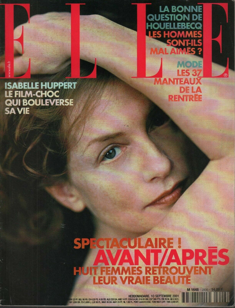 Elle French High Fashion Magazine 10 Septembre 2001 Isabelle Huppert 091619AME
