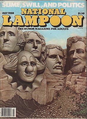 National Lampoon July 1980 Slime, Swill and Politics No ML EX 122915DBE