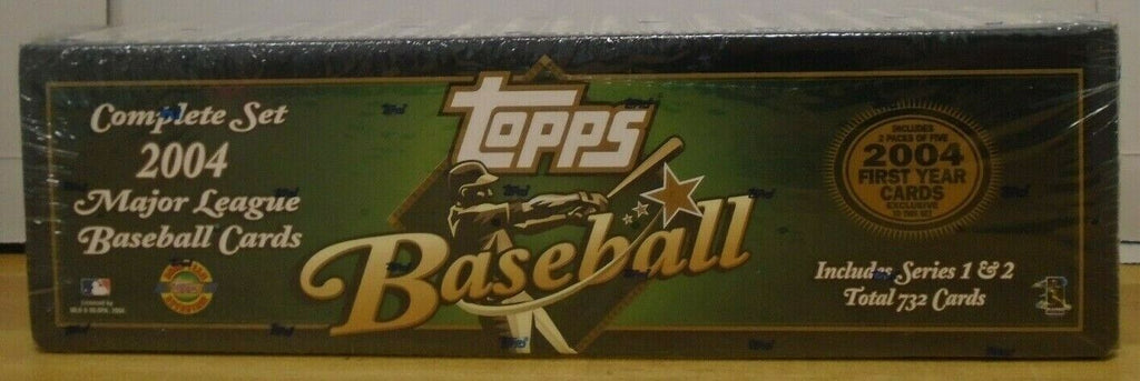 TOPPS 2004 Baseball Complete Factory Set 732 Cards Series 1&2 071519DBT