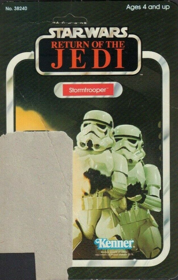 Stormtrooper Star Wars ROTJ Card Back Only KENNER 1983 031419DBT B