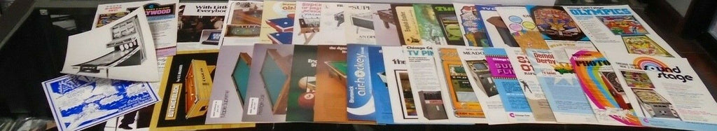 Lot of 36 Vintage Advertisement Sales Flyer 1970s Arcade Bar Games 021219AME