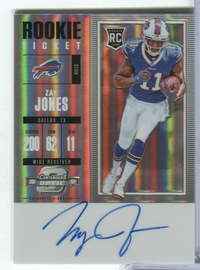 Zay Jones Bills RC Ticket Blue Ink Signed Contenders Optic #133 100219DBCD2