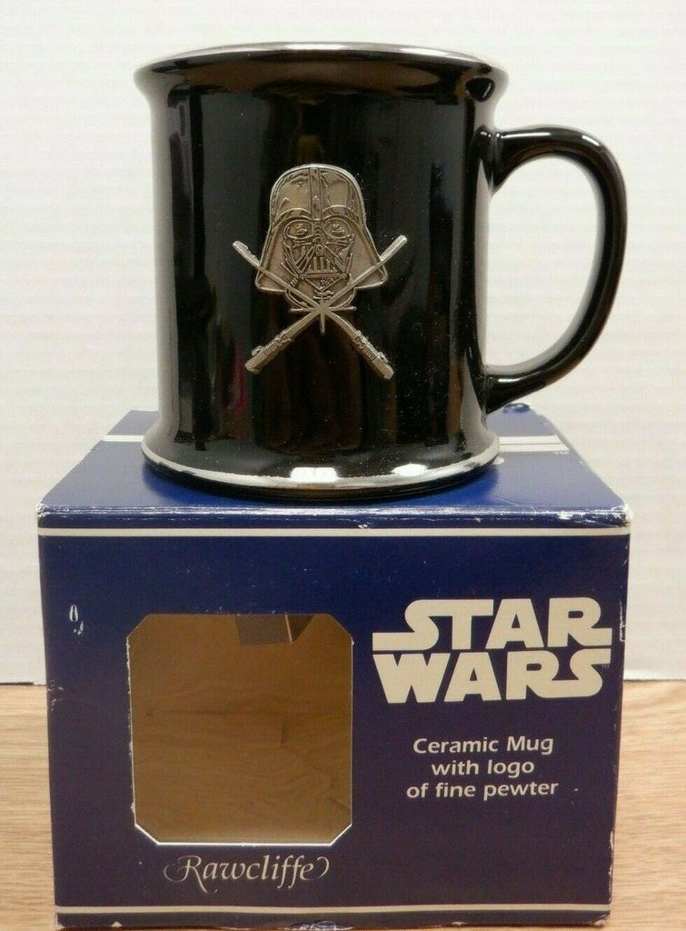 Rawcliff Ceramic Mug With Fine Pewter Darth Vader With Sabres Crossed 112919DBT