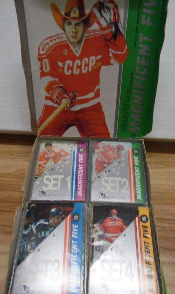 Magnificent Five Tri Globe Sets 1-4 7 Sets of Each 140 Cards Pavel Bure and Box