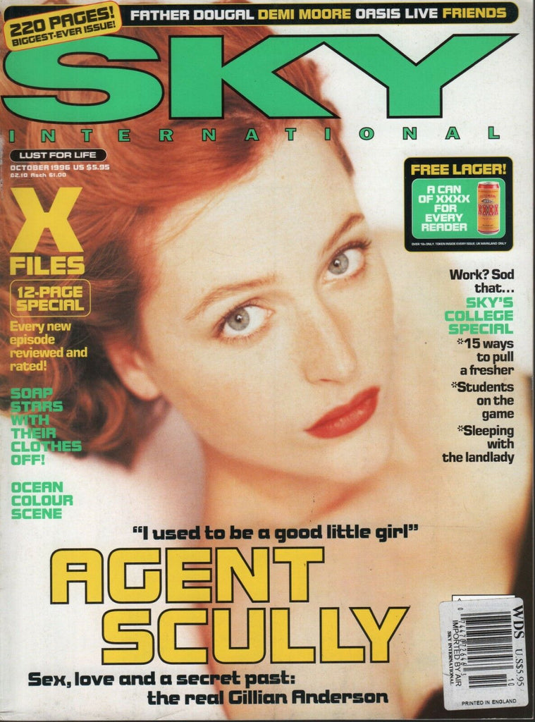 Sky International October 1996 Gilian Anderson Demi Moore Oasis 092118AME