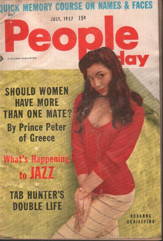 People Today July 1957 Rosanna Schiaffino Cheesecake Pin Up Digest 061719AME