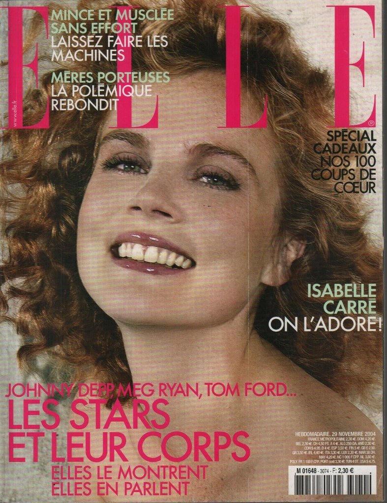 Elle French Fashion Magazine 29 Novembre 2004 Isabelle Carre 091819AME