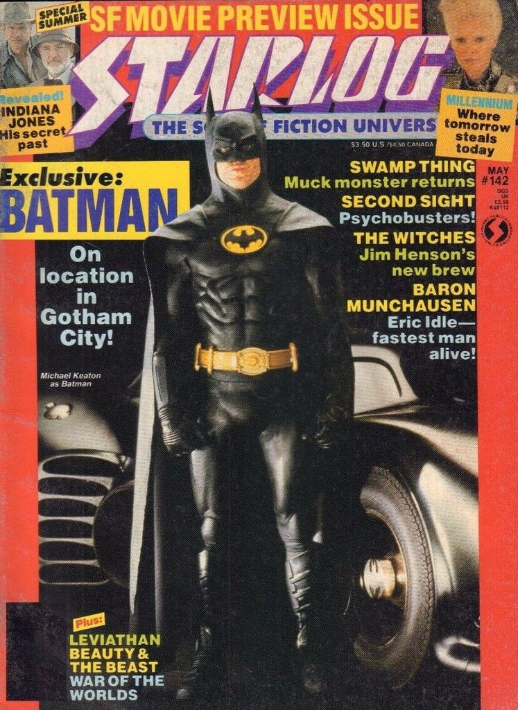 Starlog May 1989 Batman, Michael Keaton, Swamp Thing 022017nonDBE