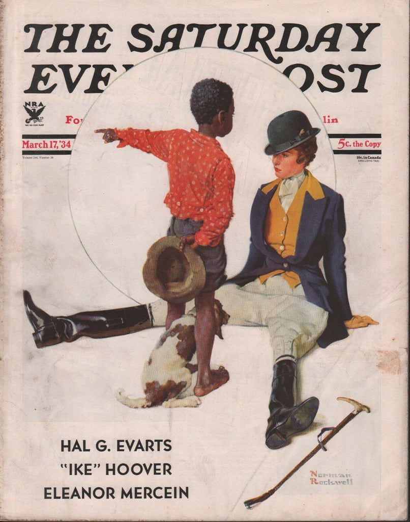 Saturday Evening Post March 17 1934 Ike Hoover Rockwell w/ML 080118DBE