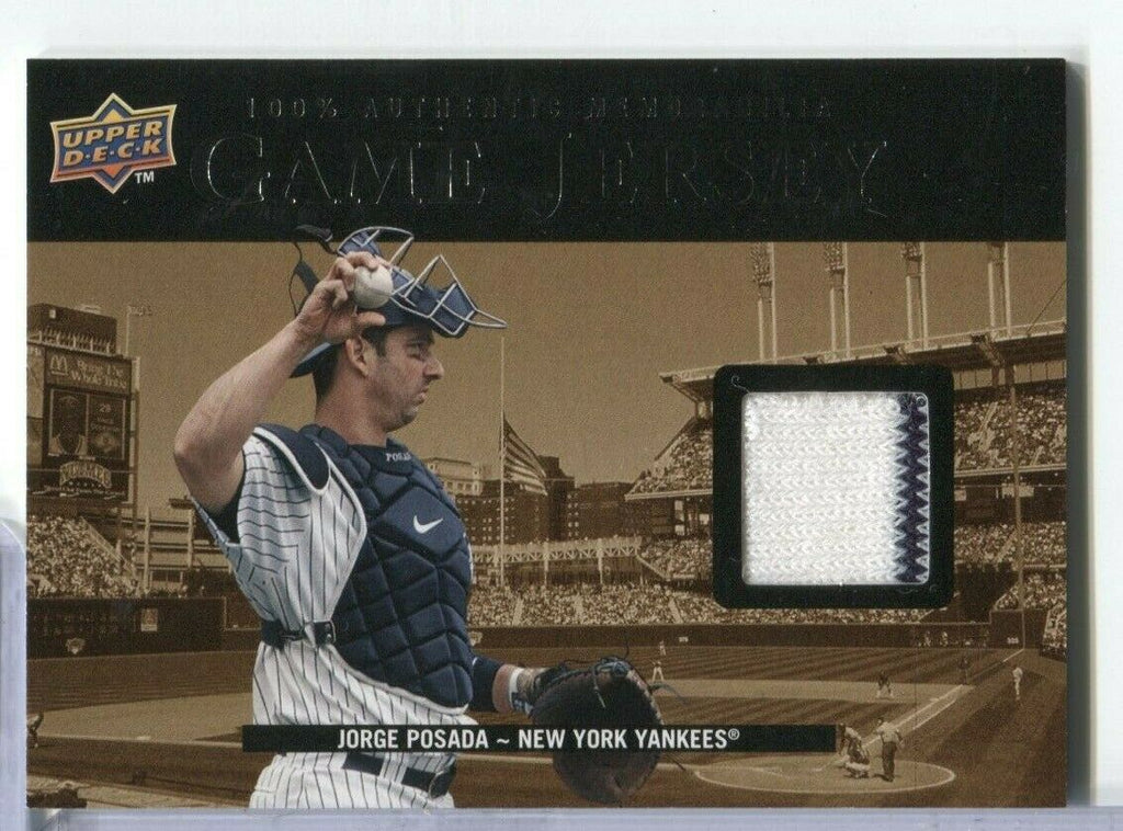 Jorge Posada NY Yankees Game Jersey Card Upper Deck 99-JP 2008 s1 100219DBCD2