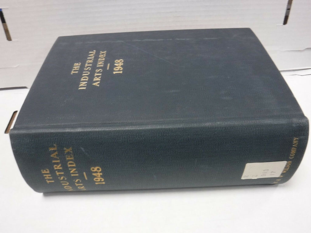 The Industrial Arts Index 1948 RARE H.W. Wilson Co Ex-FAA 121818AME8