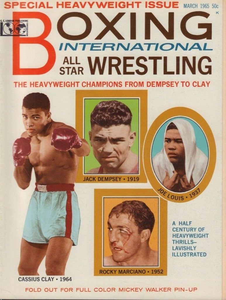 Boxing International March 1965 Cassius Clay Ali Jack Dempsey 020519DBE