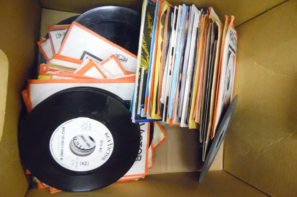 Lot of 95 Different 45rpm Vinyls Picture Sleeves & White Label Promo 071813ameDB