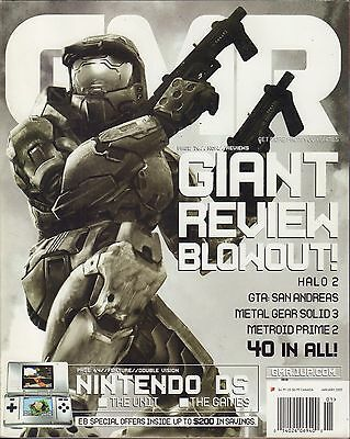 GMR January 2005 Halo 2, Metal Gear Solid 3, Nintendo DS VG 070816DBE2