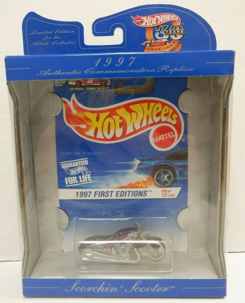 Scorchin Scooter Hot Wheels 30 Years 1997 First Editions Mattel 123119DBT2