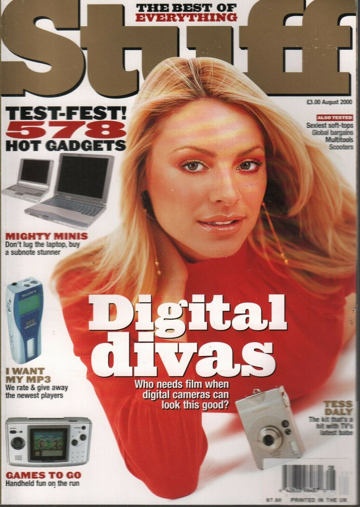 Stuff UK Technology Magazine August 2000 Tess Daly Digital Divas 120919AME2