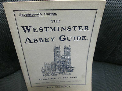 WESTMINSTER ABBEY GUIDE 1908 English SC book High Grade Excellent 100+ pgs.